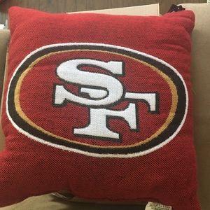 SF 49ers pillow